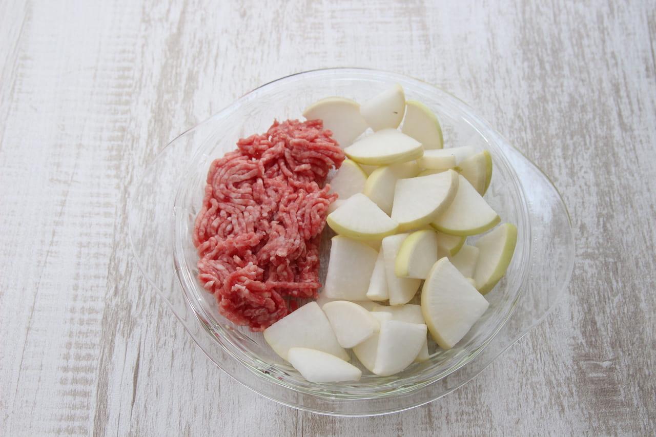 干し野菜 大根 ひき肉の炒め煮 材料