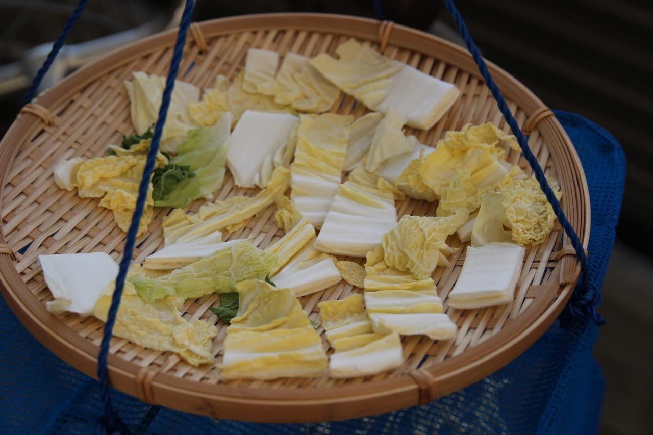 干し野菜 白菜 作り方